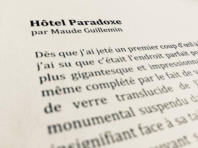Hôtel Paradoxe